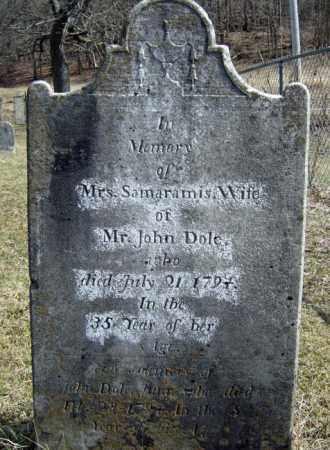 DOLE, SAMARAMIS - Washington County, New York   SAMARAMIS DOLE - New York Gravestone Photos