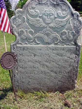 EDGAR (RW), DAVID - Washington County, New York | DAVID EDGAR (RW) - New York Gravestone Photos