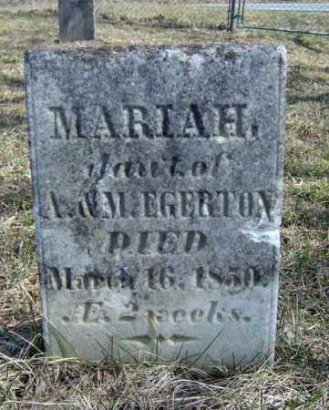EGERTON, MARIAH - Washington County, New York | MARIAH EGERTON - New York Gravestone Photos