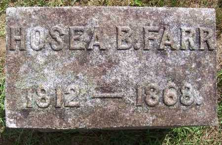 FARR, HOSEA BLEU - Washington County, New York | HOSEA BLEU FARR - New York Gravestone Photos