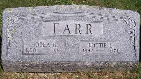 LINDSAY FARR, LOTTIE - Washington County, New York | LOTTIE LINDSAY FARR - New York Gravestone Photos