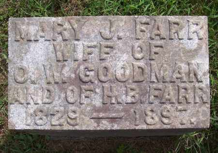 FARR, MARY JANE - Washington County, New York | MARY JANE FARR - New York Gravestone Photos