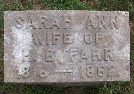 FARR, SARAH ANN - Washington County, New York | SARAH ANN FARR - New York Gravestone Photos