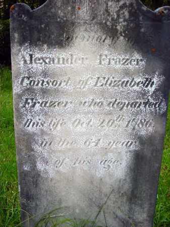 FRAZER, ALEXANDER - Washington County, New York   ALEXANDER FRAZER - New York Gravestone Photos