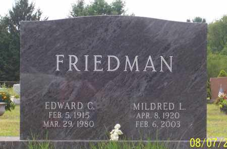 FRIEDMAN, EDWARD CHARLES - Washington County, New York | EDWARD CHARLES FRIEDMAN - New York Gravestone Photos