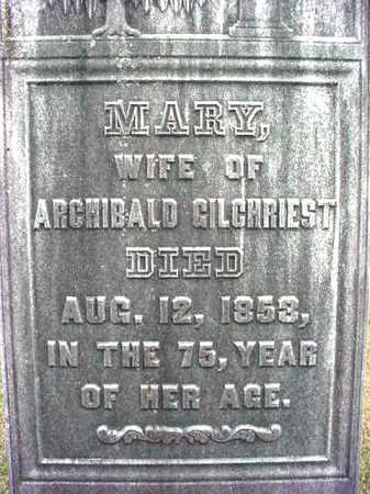 GILCHRIEST, MARY - Washington County, New York | MARY GILCHRIEST - New York Gravestone Photos
