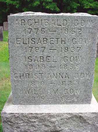 GOW, CHRISTIANNA - Washington County, New York | CHRISTIANNA GOW - New York Gravestone Photos