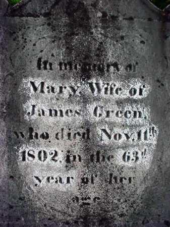 GREEN, MARY - Washington County, New York   MARY GREEN - New York Gravestone Photos