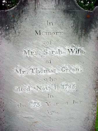 COULTER GREEN, SARAH - Washington County, New York | SARAH COULTER GREEN - New York Gravestone Photos