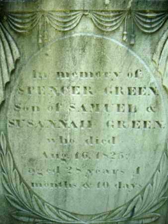 GREEN, SPENCER - Washington County, New York | SPENCER GREEN - New York Gravestone Photos
