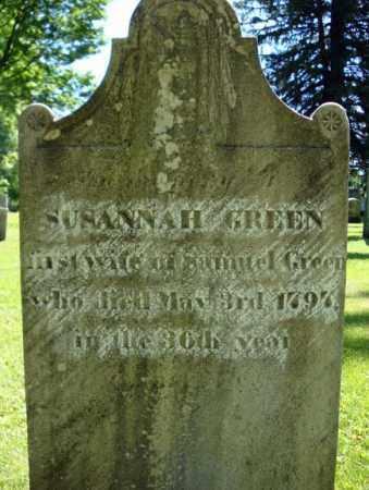 GREEN, SUSANNAH - Washington County, New York   SUSANNAH GREEN - New York Gravestone Photos