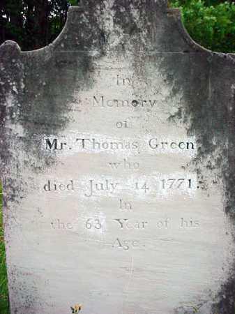 GREEN, THOMAS - Washington County, New York | THOMAS GREEN - New York Gravestone Photos