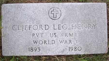 HENRY, CLIFFORD LEO - Washington County, New York | CLIFFORD LEO HENRY - New York Gravestone Photos