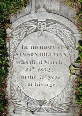 HILLMAN, SAMSON - Washington County, New York | SAMSON HILLMAN - New York Gravestone Photos