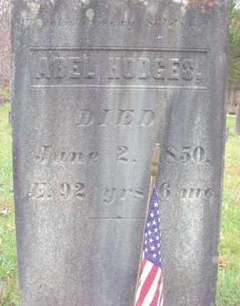 HODGES (RW), ABEL - Washington County, New York | ABEL HODGES (RW) - New York Gravestone Photos