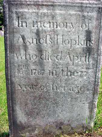 HOPKINS, AGNESS - Washington County, New York   AGNESS HOPKINS - New York Gravestone Photos