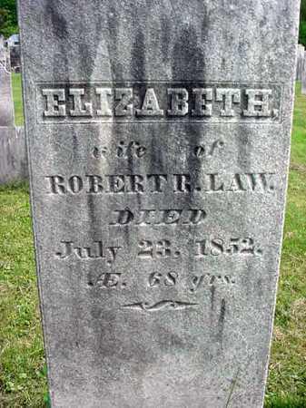 LAW, ELIZABETH - Washington County, New York | ELIZABETH LAW - New York Gravestone Photos