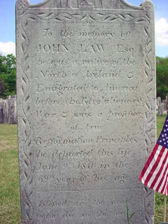 LAW, JOHN - Washington County, New York | JOHN LAW - New York Gravestone Photos