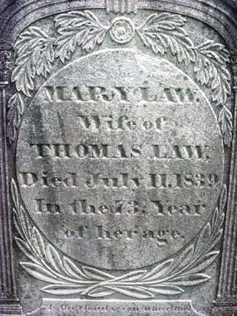 LAW, MARY - Washington County, New York | MARY LAW - New York Gravestone Photos