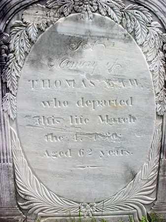 LAW, THOMAS - Washington County, New York | THOMAS LAW - New York Gravestone Photos