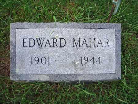 MAHAR, EDWARD - Washington County, New York | EDWARD MAHAR - New York Gravestone Photos
