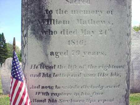 MATHEWS (RW), WILLIAM - Washington County, New York | WILLIAM MATHEWS (RW) - New York Gravestone Photos