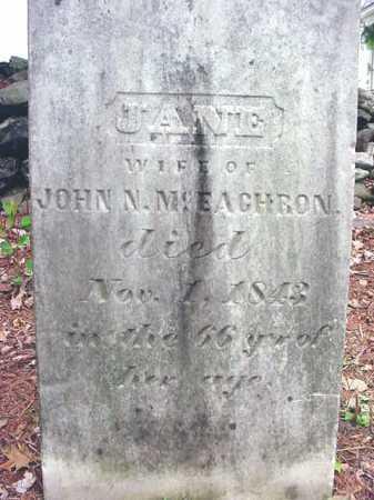 MCEACHRON, JANE - Washington County, New York | JANE MCEACHRON - New York Gravestone Photos