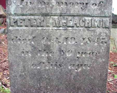 MCEACHRON, PETER - Washington County, New York | PETER MCEACHRON - New York Gravestone Photos