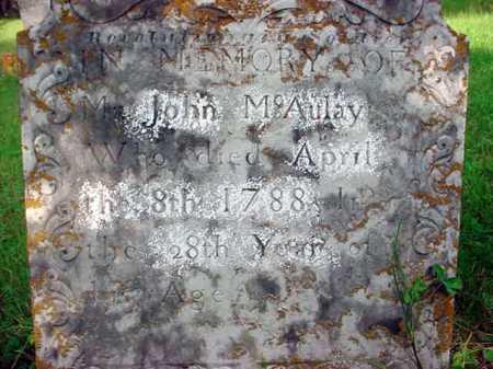 MCAULAY (RW), JOHN - Washington County, New York   JOHN MCAULAY (RW) - New York Gravestone Photos