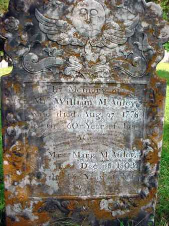 MCAULEY, WILLIAM - Washington County, New York | WILLIAM MCAULEY - New York Gravestone Photos
