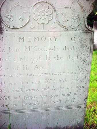 MCCOOL, JOHN - Washington County, New York | JOHN MCCOOL - New York Gravestone Photos