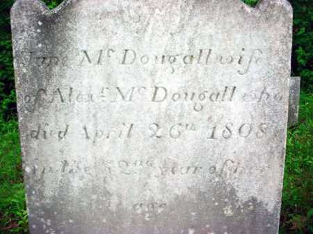 MCDOUGALL, JANE - Washington County, New York | JANE MCDOUGALL - New York Gravestone Photos