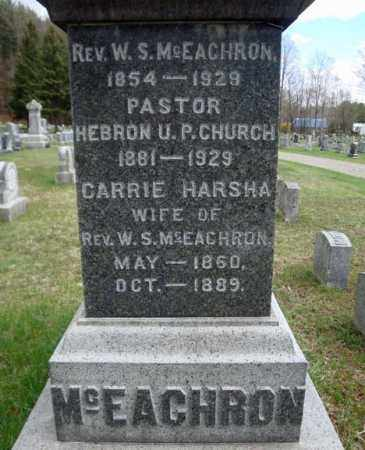 MCEACHRON, CARRIE - Washington County, New York | CARRIE MCEACHRON - New York Gravestone Photos