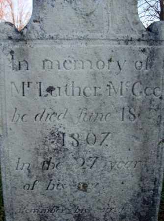 MCGEE, LUTHER - Washington County, New York | LUTHER MCGEE - New York Gravestone Photos