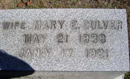 CULVER, MARY E - Washington County, New York   MARY E CULVER - New York Gravestone Photos