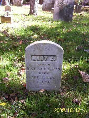 ROBERTS, MARY E. - Washington County, New York | MARY E. ROBERTS - New York Gravestone Photos
