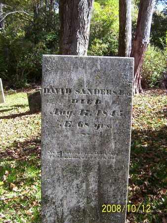 SANDERS, DAVID - Washington County, New York   DAVID SANDERS - New York Gravestone Photos