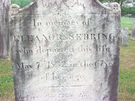 SEBRING, ELEANOR - Washington County, New York | ELEANOR SEBRING - New York Gravestone Photos