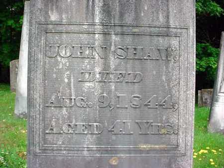 SHAW, JOHN - Washington County, New York | JOHN SHAW - New York Gravestone Photos
