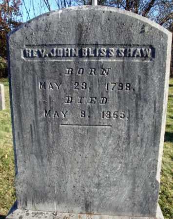 SHAW, JOHN BLISS - Washington County, New York | JOHN BLISS SHAW - New York Gravestone Photos