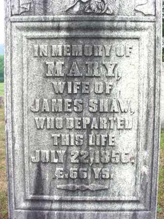 SHAW, MARY - Washington County, New York | MARY SHAW - New York Gravestone Photos