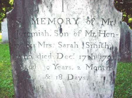 SMITH, JEREMIAH - Washington County, New York | JEREMIAH SMITH - New York Gravestone Photos