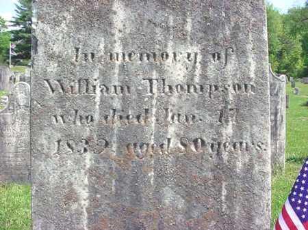 THOMPSON (RW), WILLIAM - Washington County, New York   WILLIAM THOMPSON (RW) - New York Gravestone Photos