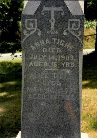 TIGHE, ALICE - Washington County, New York | ALICE TIGHE - New York Gravestone Photos