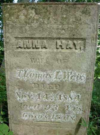 WEIR, ANNA - Washington County, New York | ANNA WEIR - New York Gravestone Photos