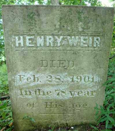 WEIR, HENRY - Washington County, New York | HENRY WEIR - New York Gravestone Photos