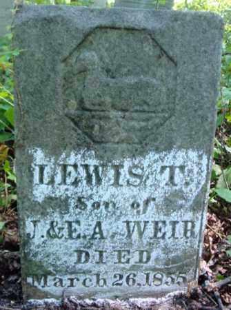 WEIR, LEWIS T - Washington County, New York | LEWIS T WEIR - New York Gravestone Photos