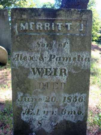 WEIR, MERRITT J - Washington County, New York | MERRITT J WEIR - New York Gravestone Photos