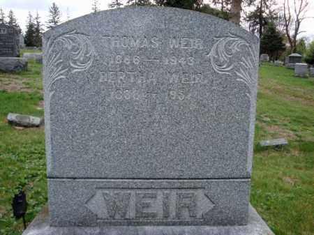 WEIR, THOMAS - Washington County, New York | THOMAS WEIR - New York Gravestone Photos