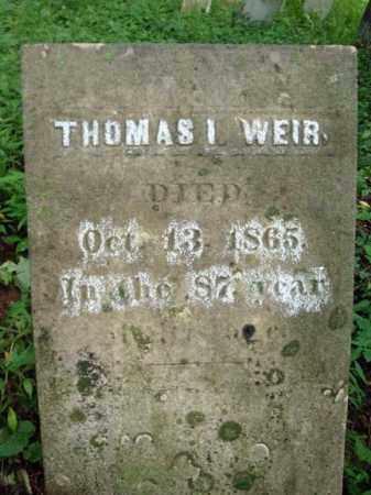 WEIR, THOMAS I - Washington County, New York | THOMAS I WEIR - New York Gravestone Photos